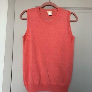 Jcrew Peach/Pink Lightweight Cashmere Shell